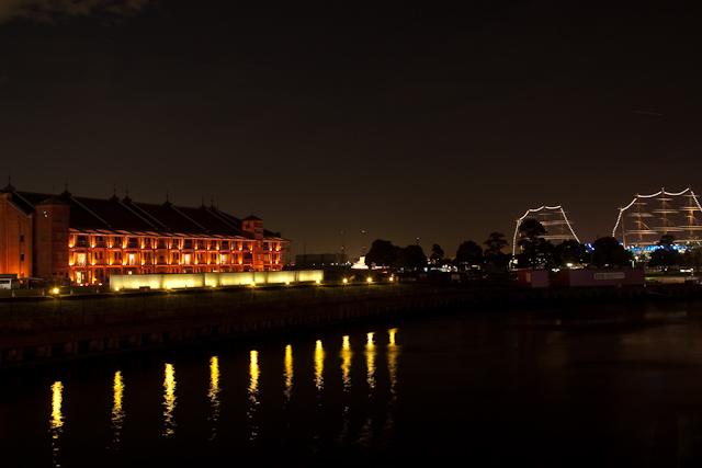 赤レンガ倉庫の夜